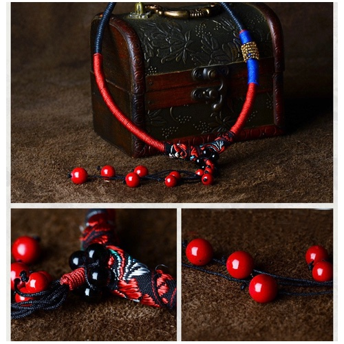 Vintage Style Tribal Berry Stone Necklace