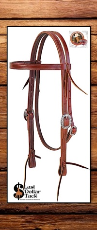 Stacy Westfall & Weaver Leather Pro Tack Browband Headstall-Mahogany Brown