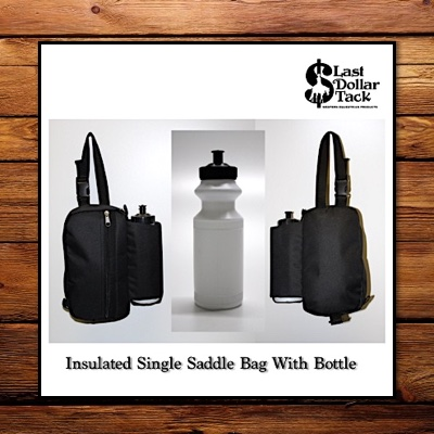 Single Insulated Saddle Bag with Bottle