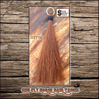 """Shu-Fly Tassel Horse Hair Tassel 12"""" Long - Sorrel"""