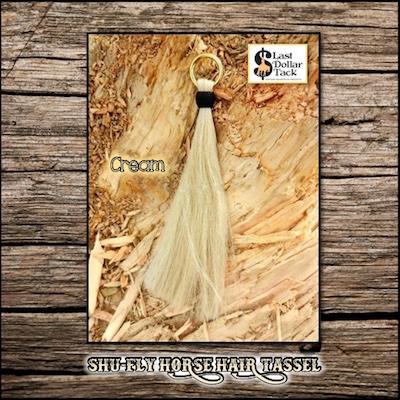 """Shu-Fly Horse Hair Tassel 12"""" Long - Cream White"""