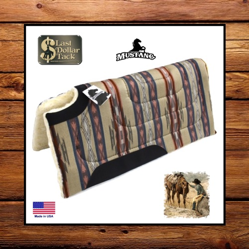 Mustang Southwest Dodge City Pottery Western Saddle Pad