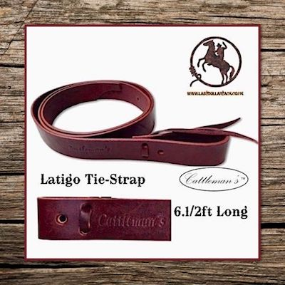 Cattleman's Leather Latigo Tie Strap