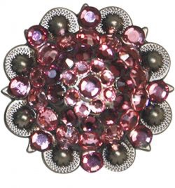 Replacement Concho Antiqued Pink Cluster Crystal