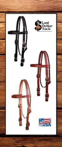 American Made Large Horse/Draft Size Western Headstall