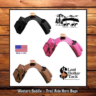 Western Saddle Insulated Horn Bags with 2 Water Bottles