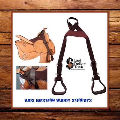 Kids Buddy Stirrups - Slips over Saddle Horn