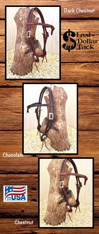West Coast Futurity Headstalls Basket Tooled Leather-Full Horse Size