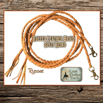 Braid Split Reins Russet Oiled Leather