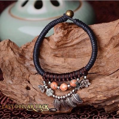 Handcrafted Rain Stone Vintage Tribal Bracelet