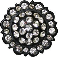 Replacement Concho Black & Crystal Rhinestones
