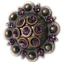 Antiqued Copper & Dark Amethyst Berry Concho