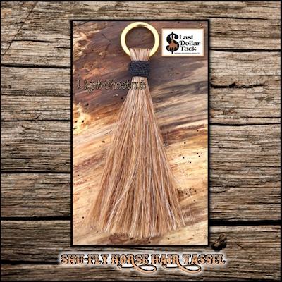 """Shu-Fly Horse Hair Tassel 7.5"""" Long - Lt. Chestnut"""