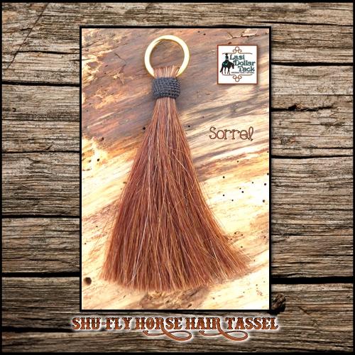 "Shu-Fly Horse Hair Tassel 7.5"" Long - Sorrel"