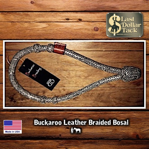 Buckaroo Braiding Leather Braided Rawhide Bosal