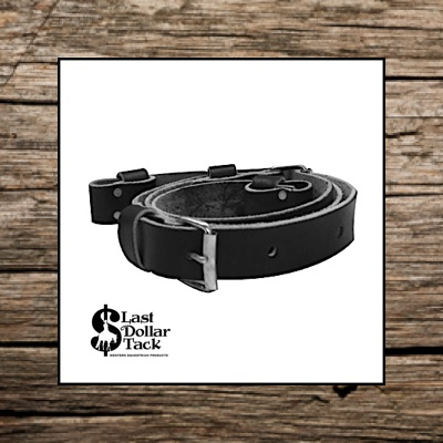 Flank Cinch Black Leather