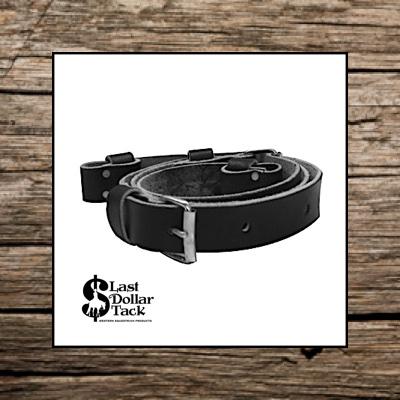 Flank Cinch Black Leather