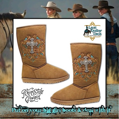 Western Design Plush Tan Boots