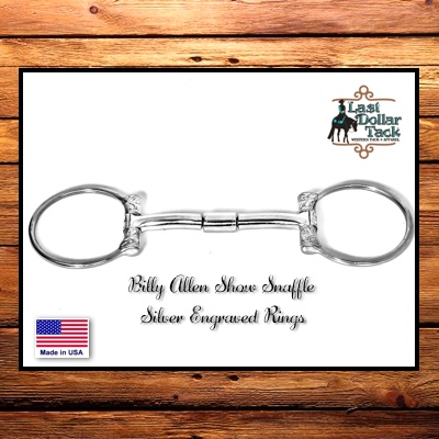 Billy Allen Show Snaffle Silver Engraved