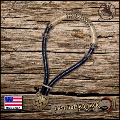 Rawhide Braided Western Bosal Black with Natural