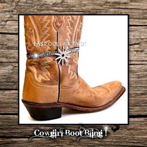 Western Boot Jewellery Anklet Silver Bling