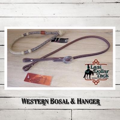 Buckaroo Braiding Rawhide & Leather 32 Plait Bosal & Hanger