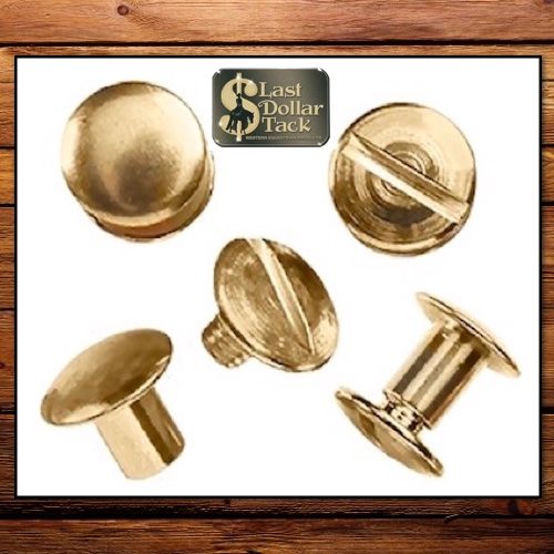 "Replacement Chicago Screws 1/4"" Brass Pk of 4"