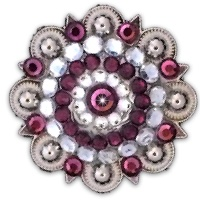 Silver Berry Concho Amethyst & White Crystal
