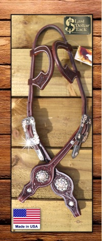 Custom Wicket & Craig 2 Ear Show Headstall Dark Chestnut