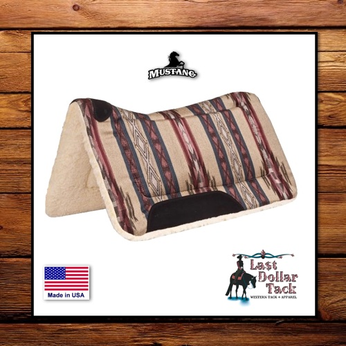 Mustang Dodge City Pottery Contoured Saddle Pad