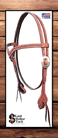 Wicket & Craig Tooled Russet Leather Headstall