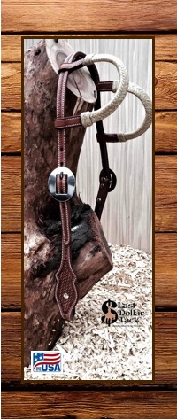 Wicket & Craig Leather Headstall 2 Ear Rawhide-Chocolate
