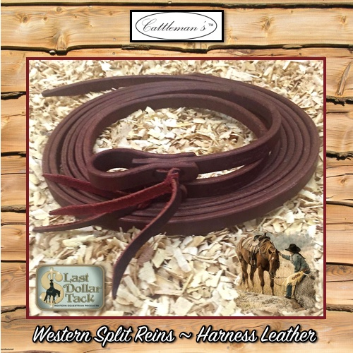 Premium Oiled Harness Leather Split Reins