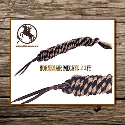 Horsehair Mecate 21ft Vaquero Black Mix