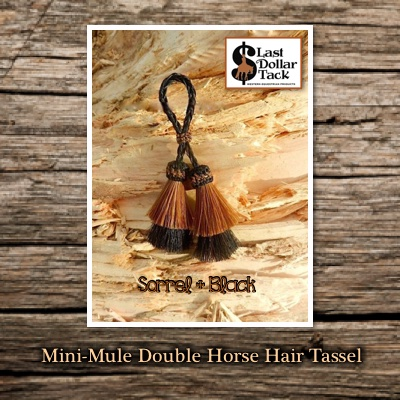 Horse Hair Tassel Double Mini-Mule Style - Sorrel & Black