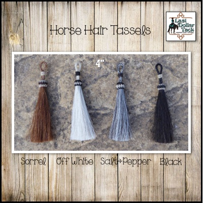"Handcrafted 4"" Horse Hair Tassels"