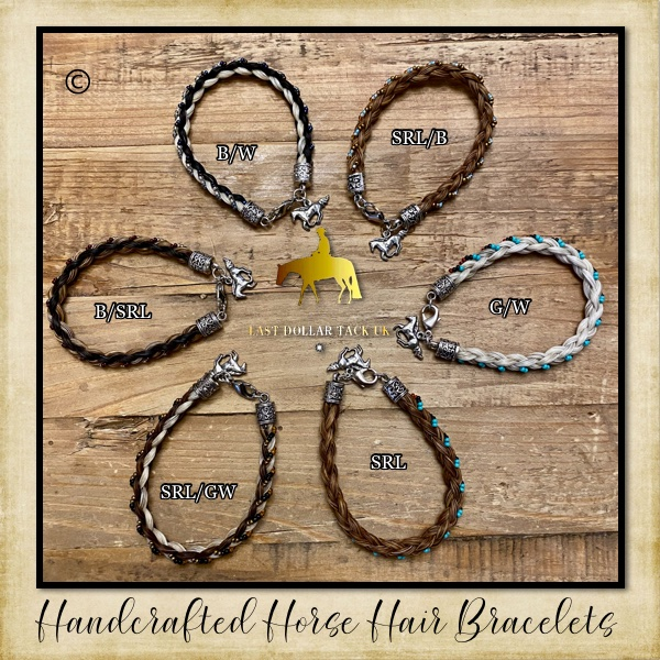 HandCrafted Horse Hair & Bead Bracelets