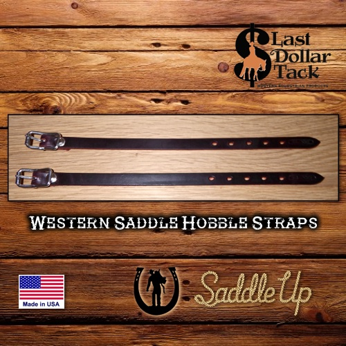 Western Saddle Fender Hobble Straps