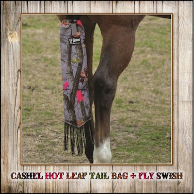 Cashel Tail Bag with Fly Fringe - Hot Leaf Camo