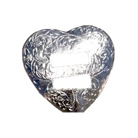 Replacement Slotted Heart Silver Conchos