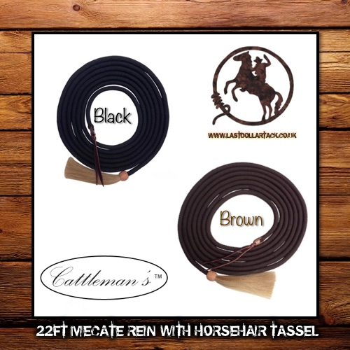 22ft Braid Nylon Mecate with Horse Hair Tassel