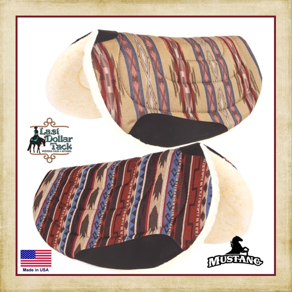 Mustang Southwest Western Round Barrel Saddle Pads