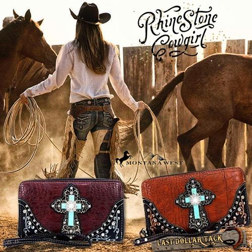 Montana West Turquoise & Antiqued Filigree Cross Ladies Wallet/Purse