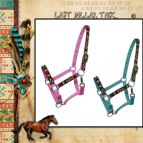 Horseman's Headcollar Quality Nylon with Tribal Pattern