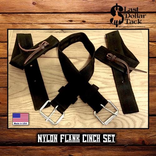 Black Nylon Economy Flank Cinch Set
