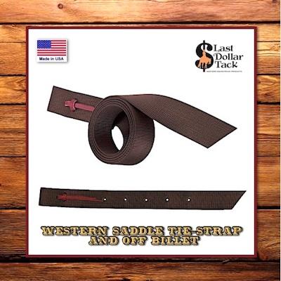 Western Saddle Brown Nylon Tie-Strap & Off Billet Set