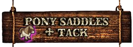 PONY SADDLES + TACK