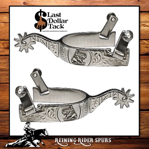 Brushed Satin Stainless Steel Reining Rider Show Spurs