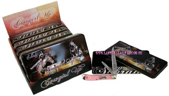 Cowgirl Up Pink Schrade Utility Knife