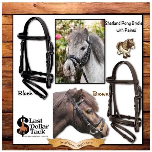 Small Pony Size English Bridle + Reins Set